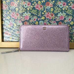Kate Spade Purple Lavender Glitter Wallet